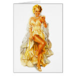 Retro Vintage Kitsch Pin Up Pinup Beer Love Girl Greeting Card