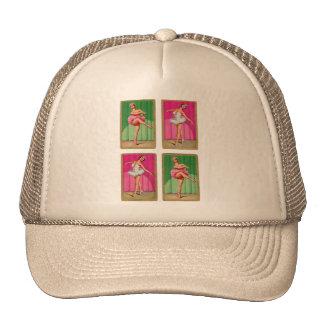 Retro Vintage Kitsch Playing Cards Ballerinas Trucker Hat