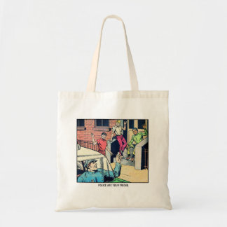 Retro Vintage Kitsch Police Are Your Friend Comic Bags