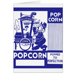 Retro Vintage Kitsch Popcorn Box Popped Perfection Card