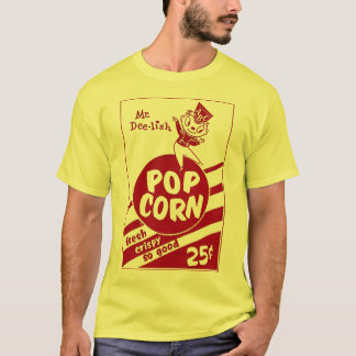 Retro Vintage Kitsch Popcorn Mr. Dee-lish T-Shirt
