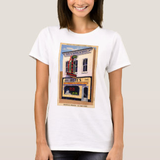Retro Vintage Kitsch Postcard Pete's Cafe Boon, MO T-Shirt