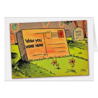 Retro Vintage Kitsch Postcard Wish You Were Here