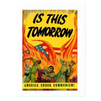Retro Vintage Kitsch Propoganda Communism! Postcards