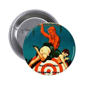 Retro Vintage Kitsch Pulp Hot Stories Magazine 2 Inch Round Button