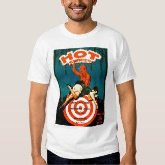 Retro Vintage Kitsch Pulp Hot Stories Magazine T-shirt