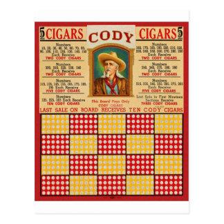 Retro Vintage Kitsch Punchboard Gambling Wild Bill Postcard