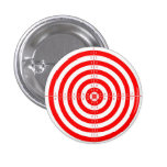 Retro Vintage Kitsch Red Archery Target Bullseye Pinback Buttons