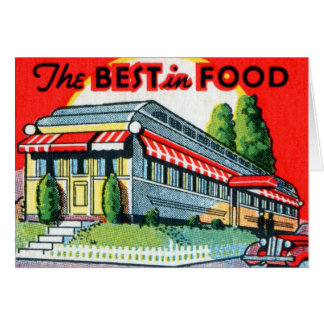 Retro Vintage Kitsch Restaurant Best in Food Card