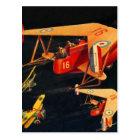 Retro Vintage Kitsch Sci Fi 30s Pulp Air Battle Postcard