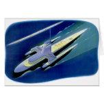 Retro Vintage Kitsch Sci Fi Future Ocean Liner Cards