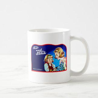 Retro Vintage Kitsch Sewing Sew & Stich Needles Coffee Mugs
