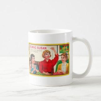 Retro Vintage Kitsch Sewing Susan Needles Book Coffee Mugs