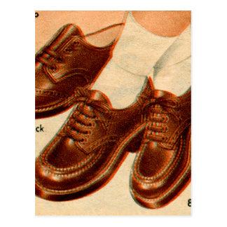 Retro Vintage Kitsch Shoe Kid s Shoes Catalog Art Postcards