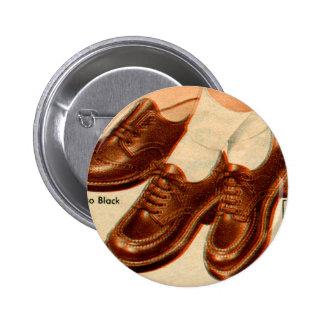 Retro Vintage Kitsch Shoe Kid's Shoes Catalog Art Pinback Button