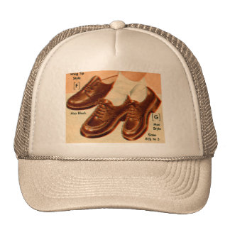 Retro Vintage Kitsch Shoe Kid's Shoes Catalog Art Mesh Hats