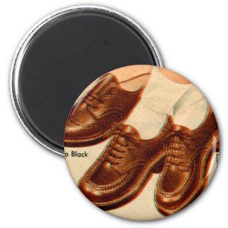 Retro Vintage Kitsch Shoe Kid's Shoes Catalog Art Magnet