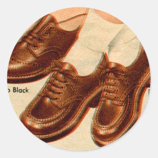 Retro Vintage Kitsch Shoe Kid's Shoes Catalog Art Stickers