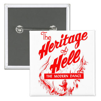 Retro Vintage Kitsch Sin Heritage of Hell - Dance 2 Inch Square Button