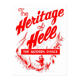 Retro Vintage Kitsch Sin Heritage of Hell - Dance Postcard