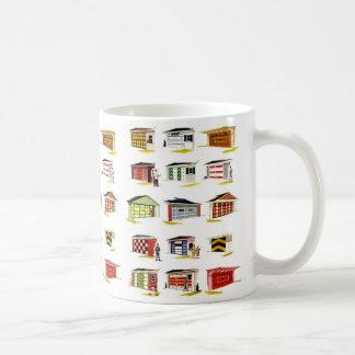 Retro Vintage Kitsch Sunurbs Garage Door Options Coffee Mug