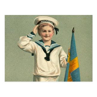 Retro Vintage Kitsch Swedish Postcard Godt Nyyt Ar