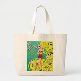Retro Vintage Kitsch Teen Girl Sweet Sixteen Book Tote Bags