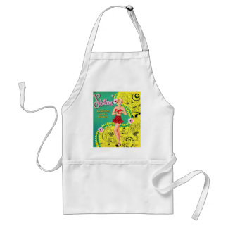 Retro Vintage Kitsch Teen Girl Sweet Sixteen Book Standard Apron
