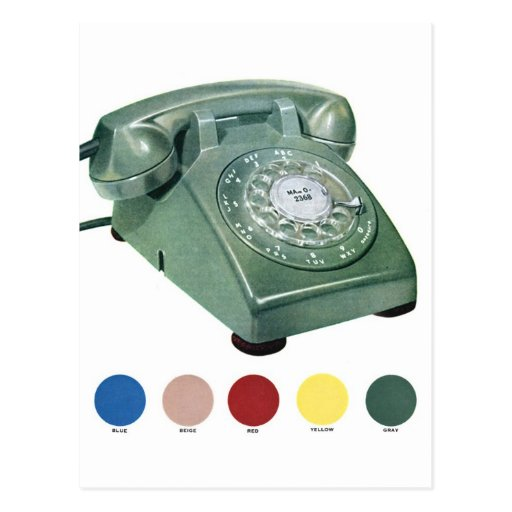 Retro Vintage Kitsch Telephone Phone Model 500 Post Cards