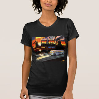 Retro Vintage Kitsch the Bus and American Industry T-shirt