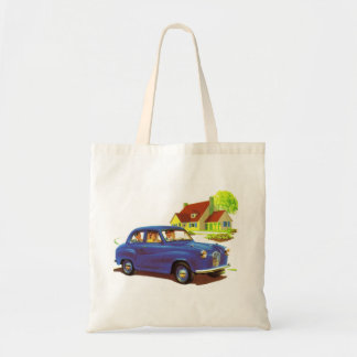Retro Vintage Kitsch The Great Sunday Drive Budget Tote Bag