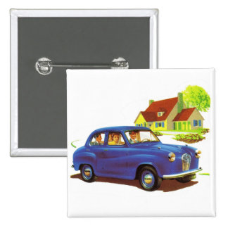 Retro Vintage Kitsch The Great Sunday Drive Pins