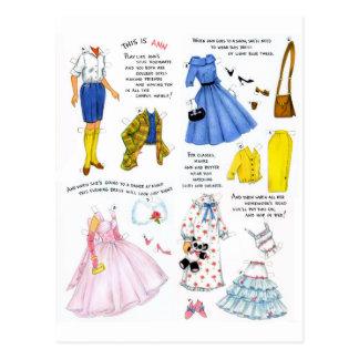 Retro Vintage Kitsch This is Ann Paper Doll Postcard