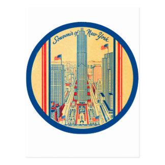Retro Vintage Kitsch Travel Souvenir of New York Postcard