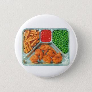 Retro Vintage Kitsch TV Dinner 'Shrimp' 2 Inch Round Button