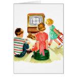 Retro Vintage Kitsch TV Television Kids Greeting Card