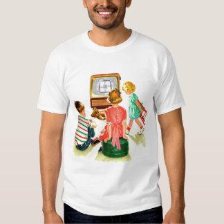 Retro Vintage Kitsch TV Television Kids Tee Shirts