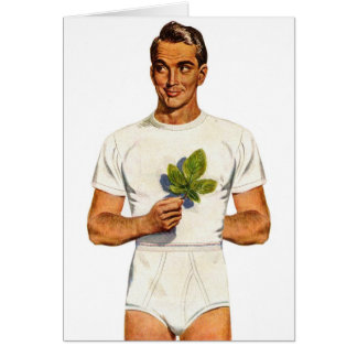 Retro Vintage Kitsch Underpants Whitey Tighties Card