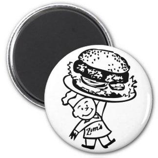 Retro Vintage Kitsch Zim's Hamburgers Magnet