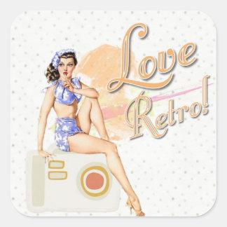 Retro Vintage Lady  Stickers