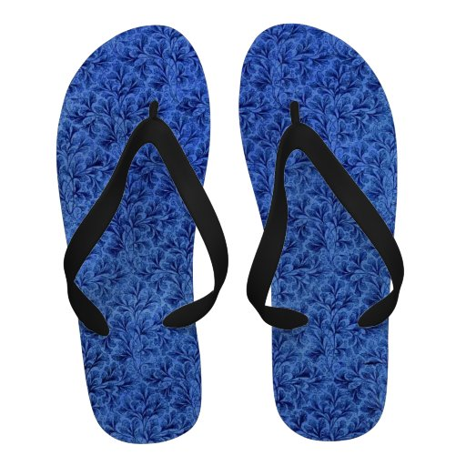Retro Vintage Leaf Sapphire Blue Sandals