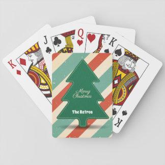 Retro, Vintage Look Christmas Tree/Playing Cards