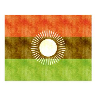 Retro Vintage Malawi Flag Postcard