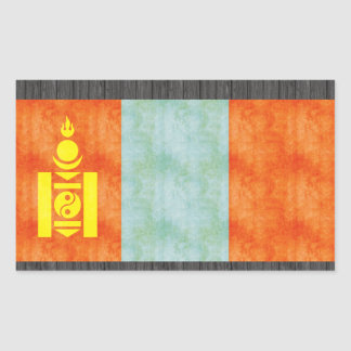 Retro Vintage Mongolia Flag Sticker