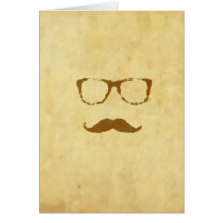 Retro Vintage Moustache Pattern Cards