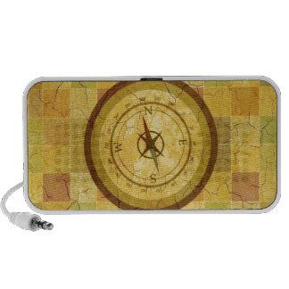 Retro Vintage Multicolored Compass Design Travel Speakers