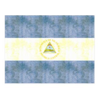 Retro Vintage Nicaragua Flag Postcard