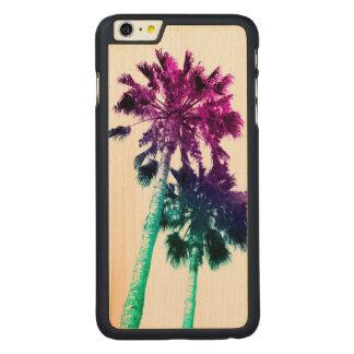 Retro Vintage Ombre Pop Art Los Angeles IphoneCase Carved Maple iPhone 6 Plus Case