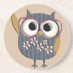 Retro Vintage Owl Coasters