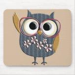 Retro Vintage Owl Mouse Pad